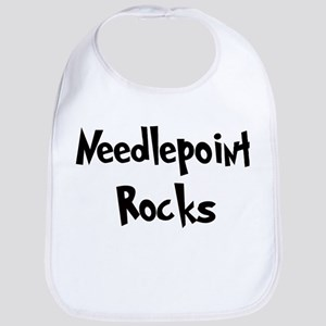 Needlepoint Rocks Bib