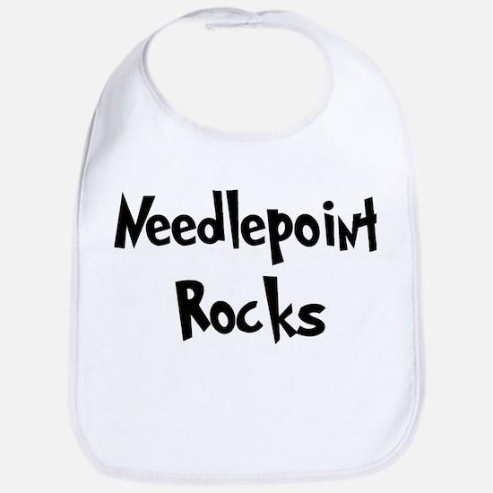 Needlepoint Rocks Bib