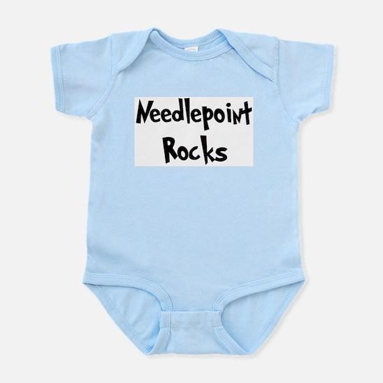 Needlepoint Rocks Infant Creeper