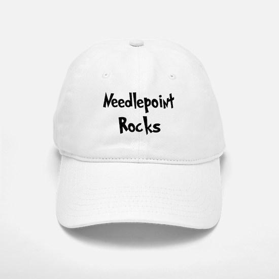 Needlepoint Rocks Baseball Baseball Cap