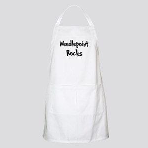 Needlepoint Rocks BBQ Apron