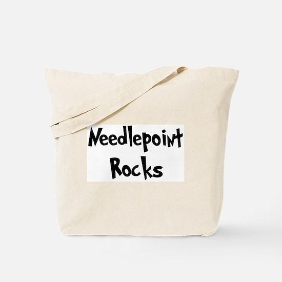 Needlepoint Rocks Tote Bag