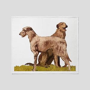 Two Deerhounds Throw Blanket