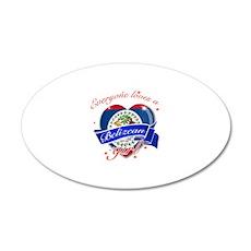 I heart Belizean Designs 22x14 Oval Wall Peel