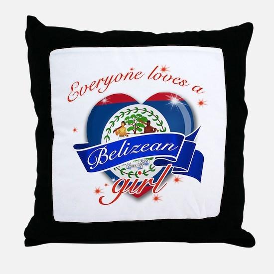I heart Belizean Designs Throw Pillow