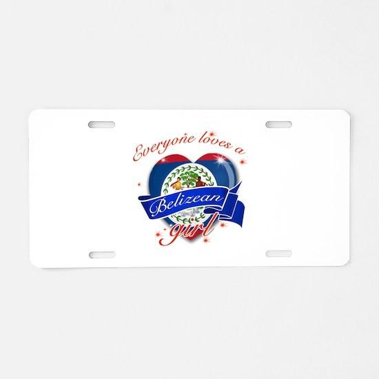 I heart Belizean Designs Aluminum License Plate