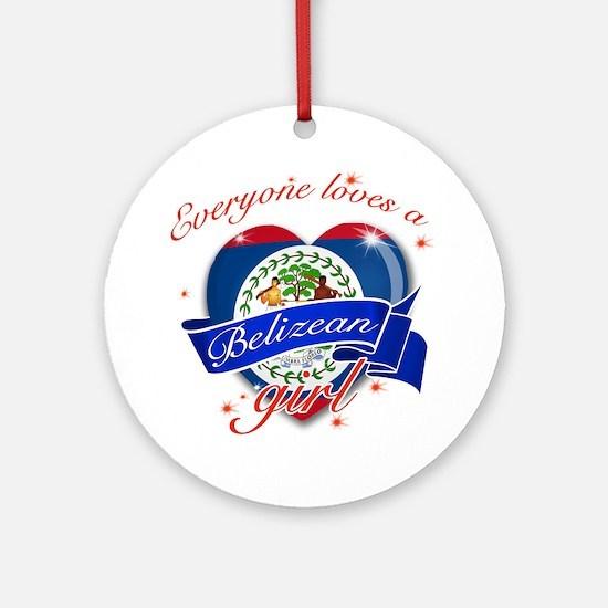 I heart Belizean Designs Ornament (Round)