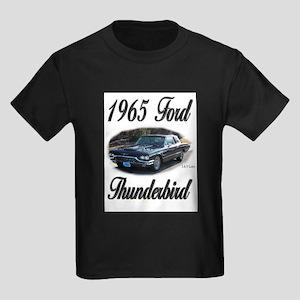 1965 Black Ford Thunderbird Kids Dark T-Shirt