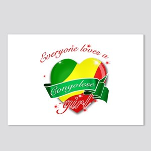 I heart Congolese Designs Postcards (Package of 8)