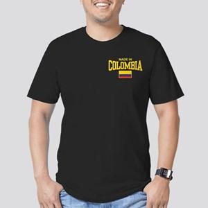 Made In Colombia Men's Fitted T-Shirt (dark)