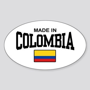 Made In Colombia Sticker (Oval)