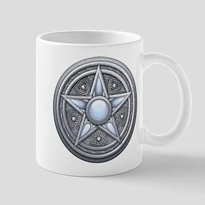 Silver Moonstone Pentacle Mug