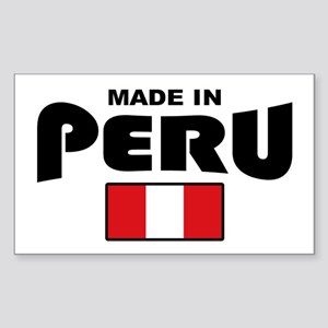 Made In Peru Sticker (Rectangle)