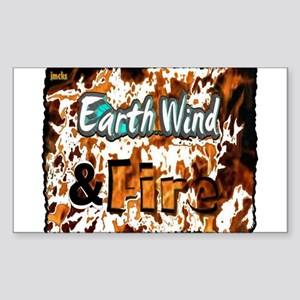 earth wind and fire Sticker (Rectangle)