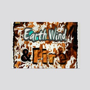 earth wind and fire Rectangle Magnet