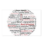 Bon appetit in different lang Postcards (Package o
