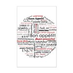 Bon appetit in different lang Mini Poster Print