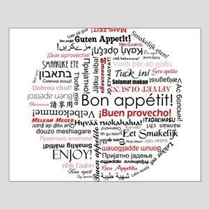 Bon appetit in different lang Small Poster