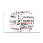 Bon appetit in different lang 22x14 Wall Peel