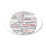 Bon appetit in different lang 38.5 x 24.5 Oval Wal