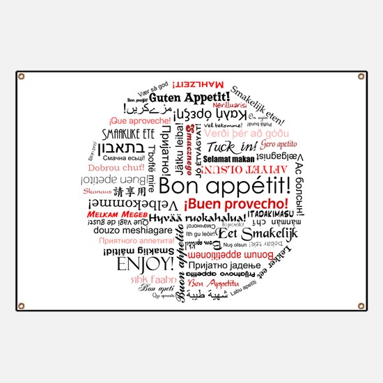 Bon appetit in different lang Banner