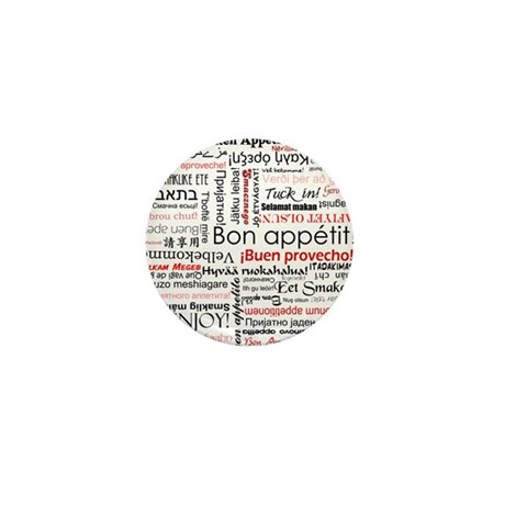 Bon appetit in different lang Mini Button (10 pack