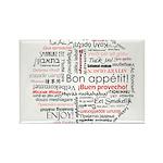 Bon appetit in different lang Rectangle Magnet (10