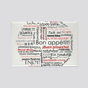 Bon appetit in different lang Rectangle Magnet