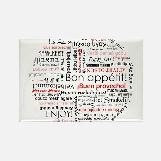Bon appetit in different lang Rectangle Magnet