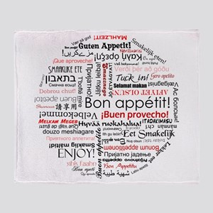 Bon appetit in different lang Throw Blanket