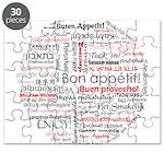 Bon appetit in different lang Puzzle