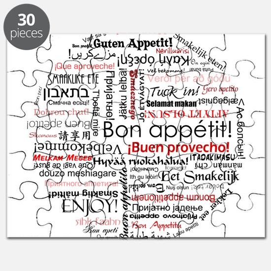 Bon appetit in different lang Puzzle