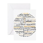 Bon Appetit in many languages Greeting Card