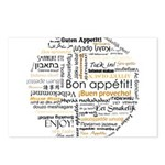 Bon Appetit in many languages Postcards (Package o