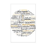 Bon Appetit in many languages Mini Poster Print