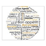 Bon Appetit in many languages Small Poster