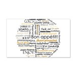 Bon Appetit in many languages 22x14 Wall Peel