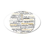 Bon Appetit in many languages 38.5 x 24.5 Oval Wal