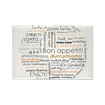 Bon Appetit in many languages Rectangle Magnet