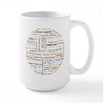 Bon Appetit in many languages Large Mug
