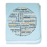 Bon Appetit in many languages baby blanket