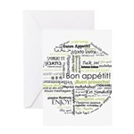 Bon appetit in other language Greeting Card