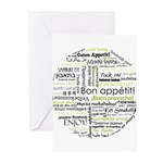 Bon appetit in other language Greeting Cards (Pk o