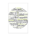 Bon appetit in other language Mini Poster Print