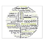 Bon appetit in other language Small Poster