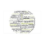 Bon appetit in other language 38.5 x 24.5 Wall Pee