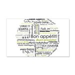 Bon appetit in other language 22x14 Wall Peel