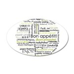 Bon appetit in other language 38.5 x 24.5 Oval Wal