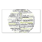 Bon appetit in other language Sticker (Rectangle 1