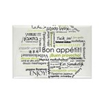 Bon appetit in other language Rectangle Magnet